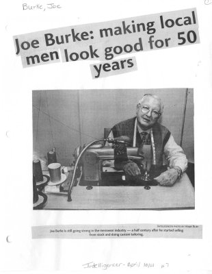 Joe Burke: making local men look good for 50 years