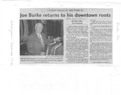 Joe Burke returns to his downtown roots