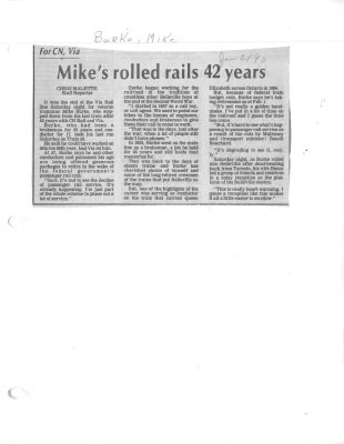 Mike's rolled rails 42 years