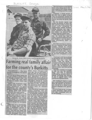 Farming real family affair for the county's Burkitts