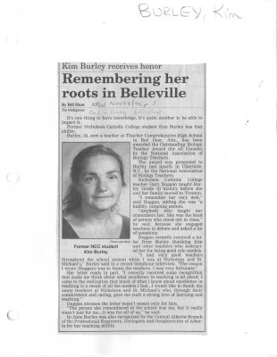 Remembering her roots in Belleville