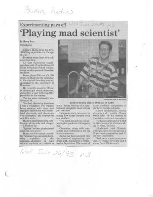 Experimenting pays off: 'Playing mad scientist'