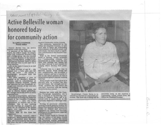 Active Belleville woman honored