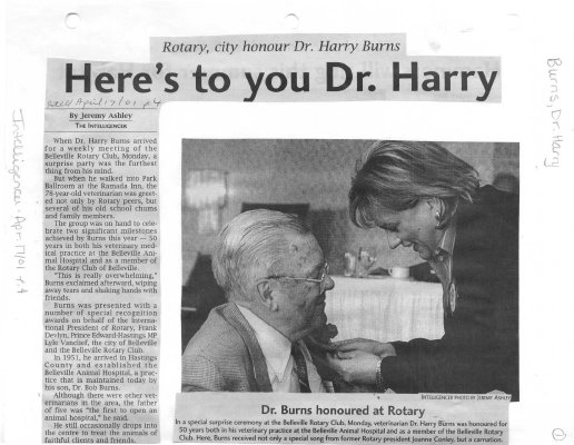Here's to you Dr. Harry