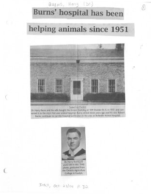 Burns' hospital has been helping animals since 1951
