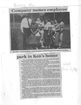 Company names employee park in Ken's honor