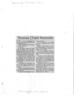 Thomas (Tom) Burnside