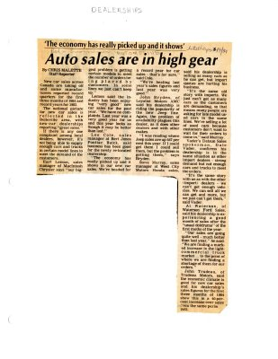 Auto sales are in high gear
