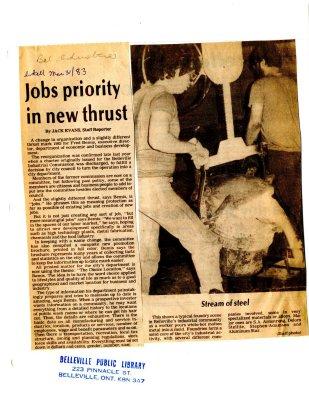 Jobs priority in new thrust