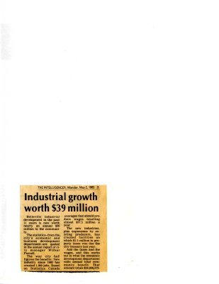 Industrial growth worth $39 million