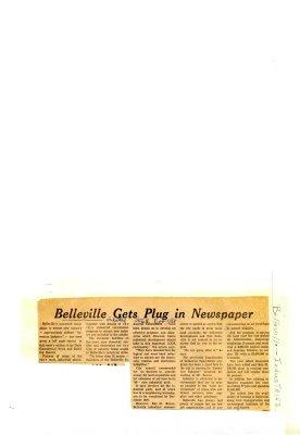 Belleville Gets Plug in Newspaper