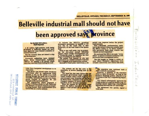 Belleville industrial mall should not have been appro
