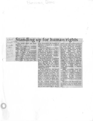 Standing up for human rights