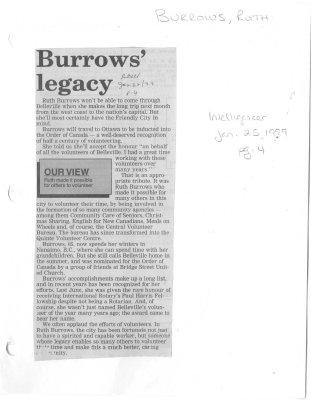 Burrows' legacy