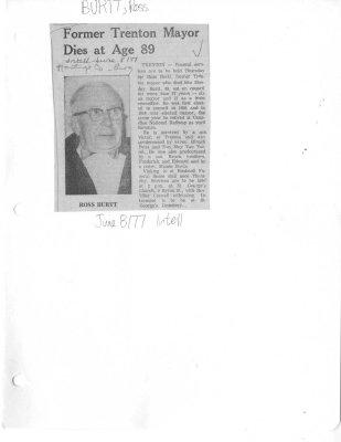 Former Trenton Mayor Dies at Age 89