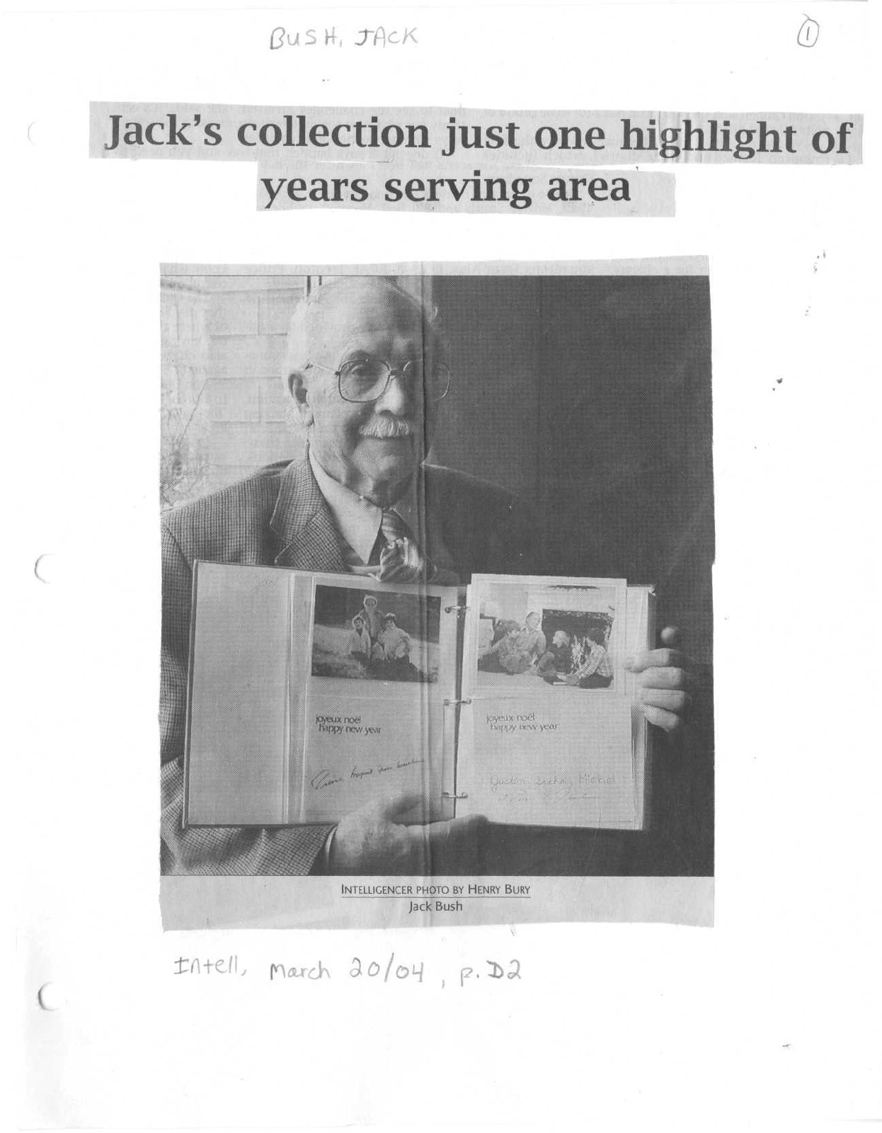 Jack's collection just one highlight of years serving area