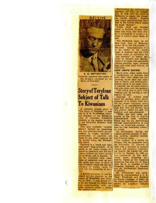 Story of Terylene Subject of Talk To Kiwanians