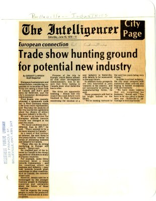Trade show hunting ground for potential new industry