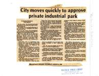 City moves quickly to approve private industrial park