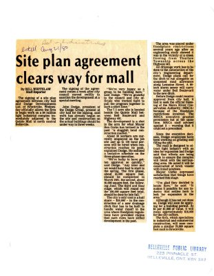 Site plan agreement clears way for mall