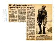 $4.5 million industrial mall 'symphony in space:' designer