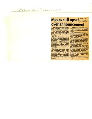 Meeks still upset over announcement