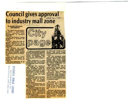 Council gives approval to industry mall zone