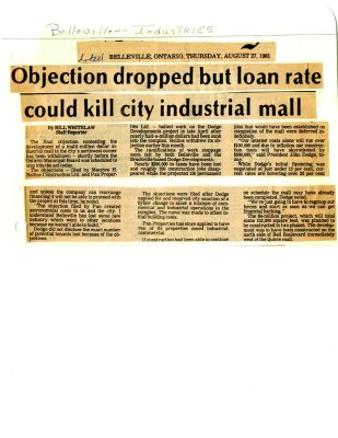 Objection dropped but loan rate could kill city industrial mall