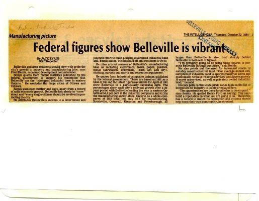 Federal figures show Belleville is vibrant