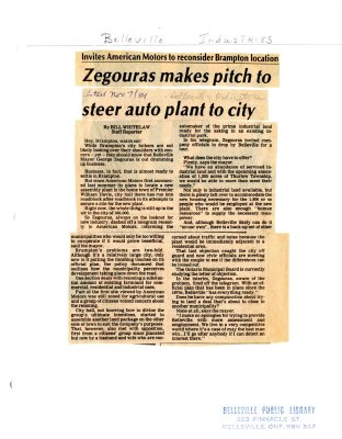 Zegouras makes pitch to steer auto plant to city