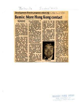 Bemis: More Hong Kong contact