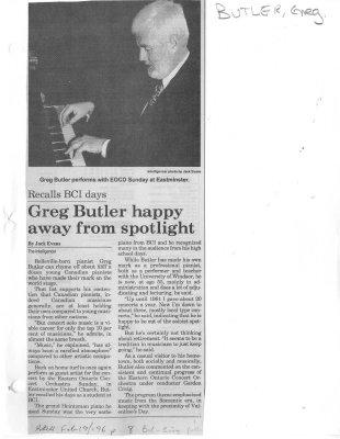 Greg Butler happy away from spotlight