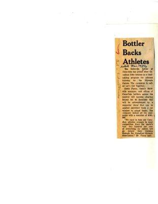 Bottler Backs Athletes