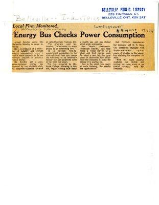 Energy Bus Checks Power Consumption