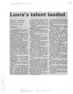 Laura's talent lauded
