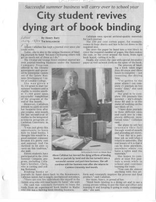 City student revives dying art of book binding
