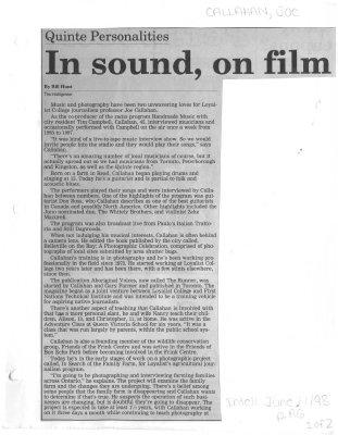 In sound, on film