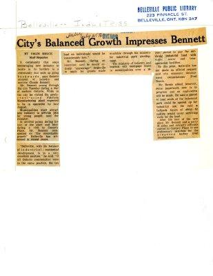 City's Balanced Growth Impresses Bennett