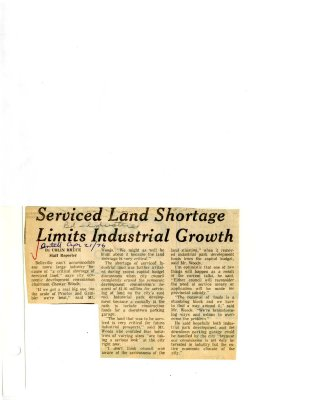 Serviced Land Shortage Limits Industrial Growth