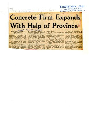 Concrete Firm Expands With Help of Province
