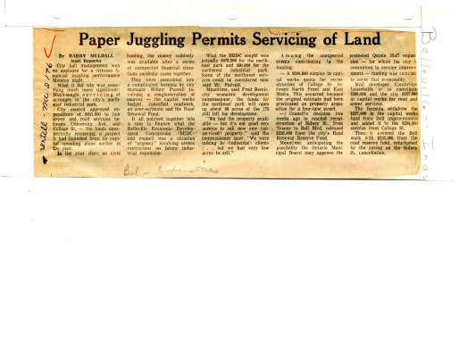Paper Juggling Permits Servicing of Land