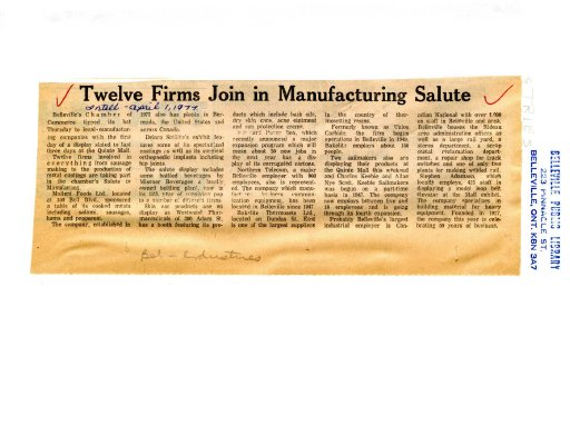 Twelve Firms Join in Manufacturing Salute