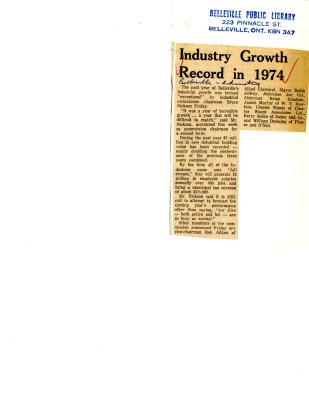 Industry Growth Record in 1974