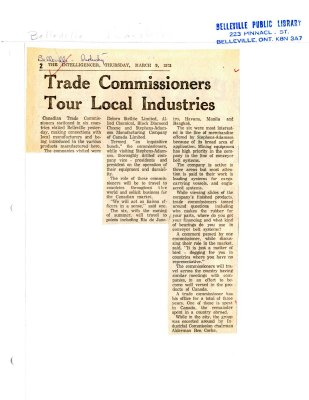trade Commissioners Tour Local Industries