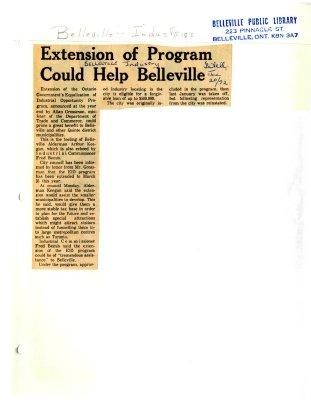 Extension of Program Could Help Belleville