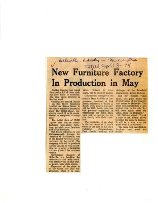 New Furniture Factory In Production in May