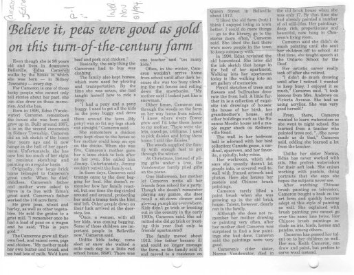Believe it, peas were good as gold on this turn-of-the-century farm