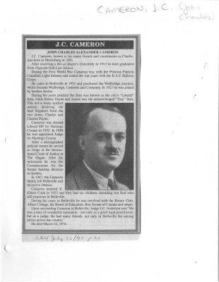 J. C. Cameron