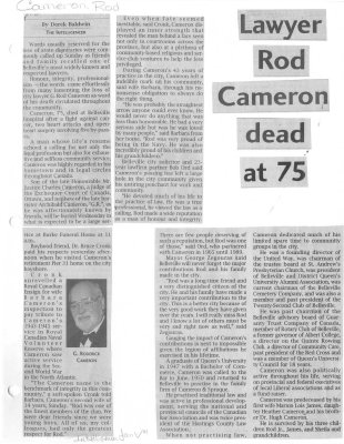 Lawyer Rod Cameron Dead at 75