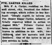 Carter, Henry Edgar (Died)